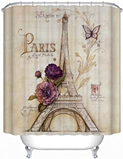 Crystal Emotion Themed Shower Curtain Pink Gold Glitter Print Wedding Collection, Mini Heart, Thank You (48x72, color10)