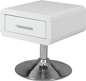 AC Design Furniture 47909 - Comodino Josefine con 1 cassetto, colore: Bianco lucido [Importato da Germania]