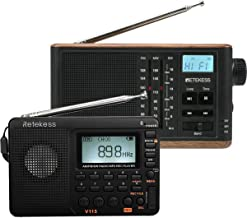 Retekess V115 Shortwave Radio, Portable Radio AM FM with Bass Sound, and TR613 AM FM Shortwave Radio, Portable Tabletop Ra...