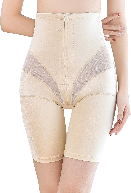 Shapewear for Women Tummy Control Zipper High-Waisted Power Shorts Hip Lift Yoga Body Shaping Pants