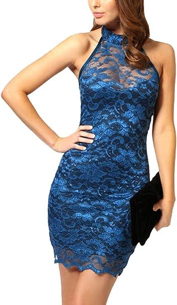 Bestfort Cocktailkleid Damen Abendkleider Kurz Partykleider Elegante Schwarzes Kleid Rundhalsausschnitt Ruckenfreies Festliche Kleider Neckholder Amazon De Bekleidung