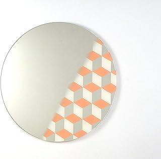 Specchio Cubico - pattern camera da letto giorno turno accessori per la camera da letto arredamento geometrico a mura senz...