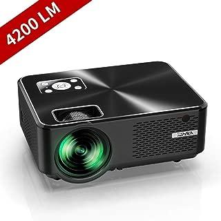 YABER プロジェクター小型 4200lm 1080PフルHD対応 高画質 1280×720ネイティブ解像度 ホームシアター LED プロジェクター 金属カーバ HIFIスピーカー内蔵 スマホ/パソコン/タブレット/ゲーム機/DVDプレイヤーなどに対応 HDMIケーブル付属