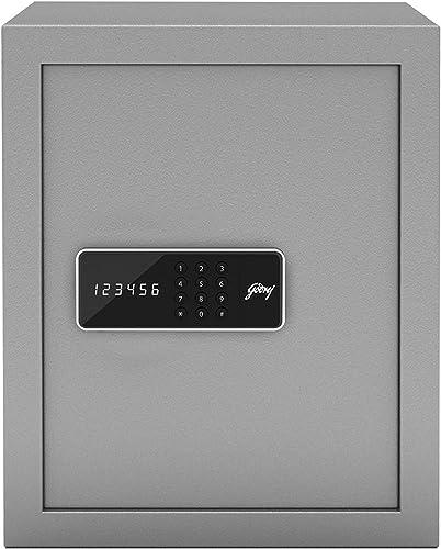Godrej Security Solutions Forte Pro 40 litres Digital Electronic Safe Locker for Home Office with Motorized Locking Mechanism Light Grey