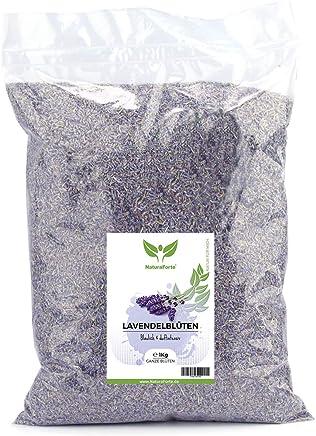 NaturaForte Lavendelblüten 1kg Lavendel ohne Zusätze - Bläulich - Intensiver Duft - Getrocknete Lavendel Blüten für Duftkissen, Duftsäckchen, Lavendelsäckchen, Potpourri Duft