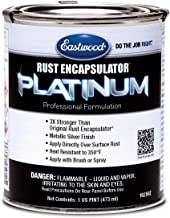 Eastwood Rust Encapsulator Platinum Pint UV Resistant Aluminum Finish Easy Apply High-Tech Formula for Vehicles Steel Building Structures
