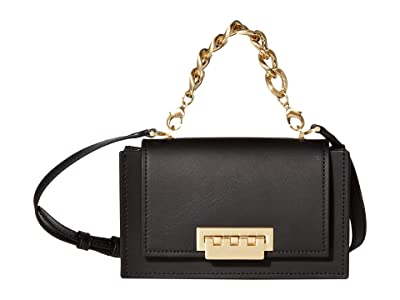 ZAC Zac Posen Earthette Mini Top-Handle Crossbody Accordion Solid (Black) Handbags