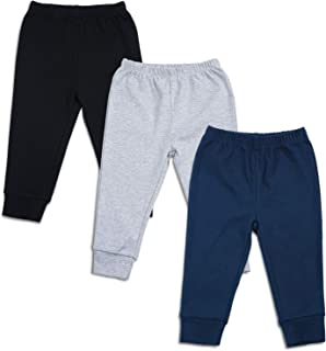 SOBOWO Infant Baby Cotton Leggings 3 Pack Unisex Solid Color Casual Pants Bottoms for Newborn Toddler Boys Girls 0-24 Months