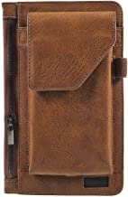 DFV mobile - Cover Vertical Belt Case with Phone Holder Pouch & Inner Pocket with Zipper for VKWORLD T1 Plus Kratos - Brown