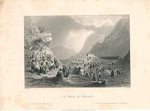Pilgrimage to Connemara Ireland 1850 old Irish print