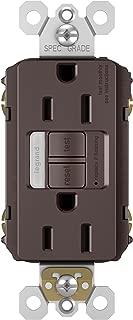 PASS & SEYMOUR 1597NTLTRDBCC4, Dark Bronze 15A, 125V, Finish, Decorator Combination Light & Self Testing Tamper Resistant, GFCI Receptacle, Sealed LED Night Light, 15 Amp