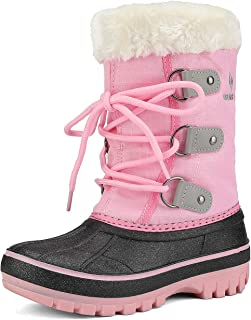DREAM PAIRS Boys & Girls Toddler/Little Kid/Big Kid Faux Fur-Lined Ankle Winter Snow Boots