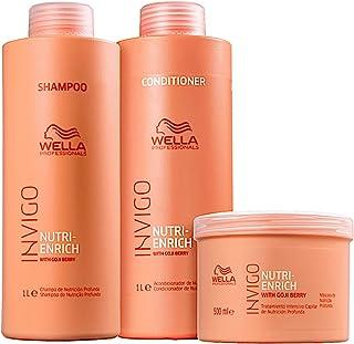 Kit Wella Professionals Invigo Nutri-Enrich - Shampoo 1000ml + Condicionador 1000ml + Máscara 500ml