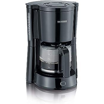 SEVERIN KA 4815 Type Cafetera para filtros de café molido, 1.000 W, 10 tazas, incluye jarra de cristal, negro: Amazon.es: Hogar