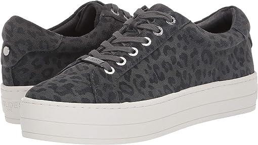 Grey Leopard Suede