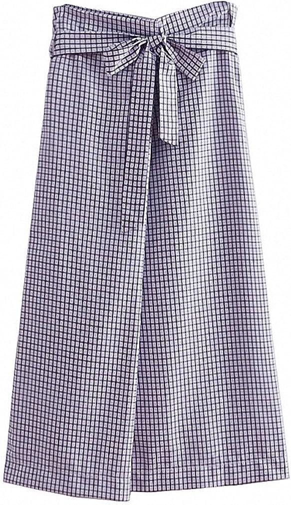 Dawery Womens Elegant Plaid Midi Skirt Bow Tie Sashes Office Lady Work Wear Faldas Mujer Ladies Casual Wear Chic Skirts