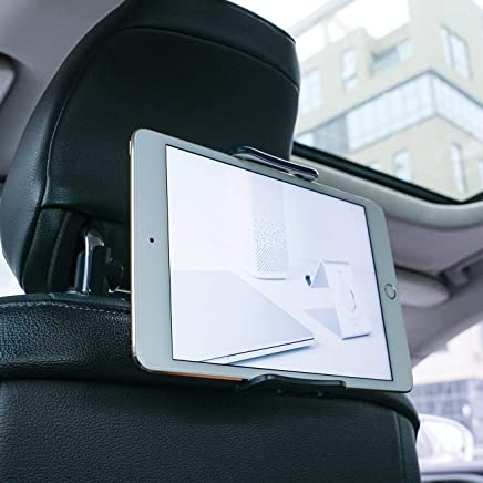 """Supporto Auto Poggiatesta per Tablet, Lamicall Supporto Tablet : Universale Supporto per 5~11"""" Tablet come Pad 2018 Pro 9.7, 10.5, Pad Air mini 1 2 3 4, Samsung Tab, Phone, altri Tablets - nero"""