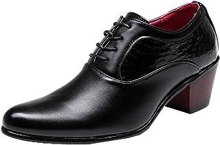 Hombres Zapatos Formales Charol Moda Ligera Zapatos Oxford Tacón Cubano Antideslizante Cómodo Trabajo Diario Casual Zapato...