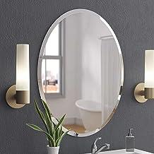Creative Arts n Frames Marvellous Oval Wall Mirror for Bathroom, Bedroom, Drawing Room and Wash Basin (18 x 24)