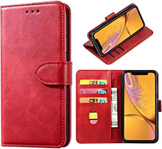 DMDMBATH iPhone XR Case Wallet Shockproof Flip Flap Foldable Magnetic Clasp Protective Cover case with Cash Credit Card Sl...