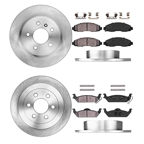 Rear Ceramic Brake Pads w//Hardware for 2003 2004 Dodge Dakota
