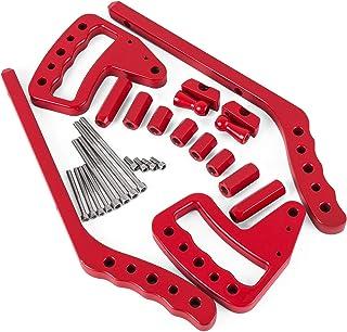 Mophorn Grab Handles 4X Front Rear Bar Grab Handles for Jeep JK Wrangler 2 4 Doors Upgraded Red