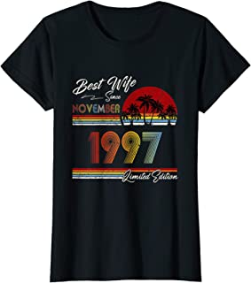 Womens 22nd wedding anniversary gift for her 22 years best Wife T-Shirt