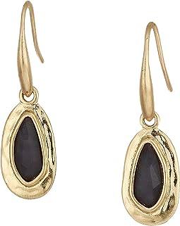 Small Stone Drop Earrings