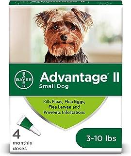 Bayer Animal Health Flea and Lice Treatment for Dogs, 3-10 lb, 4 doses, Advantage II