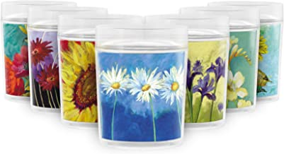 Daisies on Blue 14 oz. Double Wall Insulated Resort Style Drinking Cup