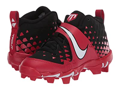 Nike Kids Force Trout 6 Keystone (Toddler/Little Kid/Big Kid) (University Red/White) Kids Shoes