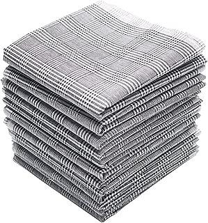 Neat Pal 100% Cotton Men's Handkerchiefs Solid Grey 16 inches Large Hankies