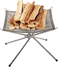 By Unbranded Foldable Fire Pit for Outside, Portable Small Outdoor Firepit Wood Burning for Camping, Stainless Steel Upgra...