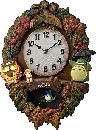 となりのトトロ 掛け時計 テーマ曲付き ブラウン リズム時計 4MJ429-M06