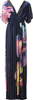 Women's Batwing Sleeve Plus Summer Exotic Beach Dress Bohemian Sundress