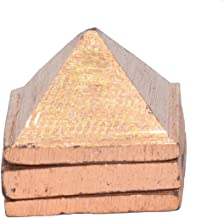 STYLE OK Wish Pyramid, Copper Pyramid, 3 Layer, 1.5 inch in Size with 91 Pyramids for Vastu and Feng Shui Three Layer Reik...
