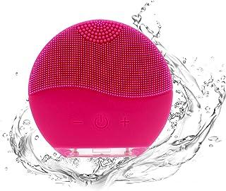comprar comparacion DAMAX Silicona Eléctrico Facial Limpiador Cepillo Masajeador Con Carga USB Y Recargable (Rojo)