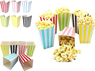 SOHAPY 100 Pack 12oz Popcorn Candy Favor Boxes Containers Cup Treat Boxes for Movie Nights Carnival Parties Birthday Brida...