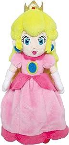 Little Buddy Super Mario All Star Collection 1418 Peach Stuffed Plush, 10