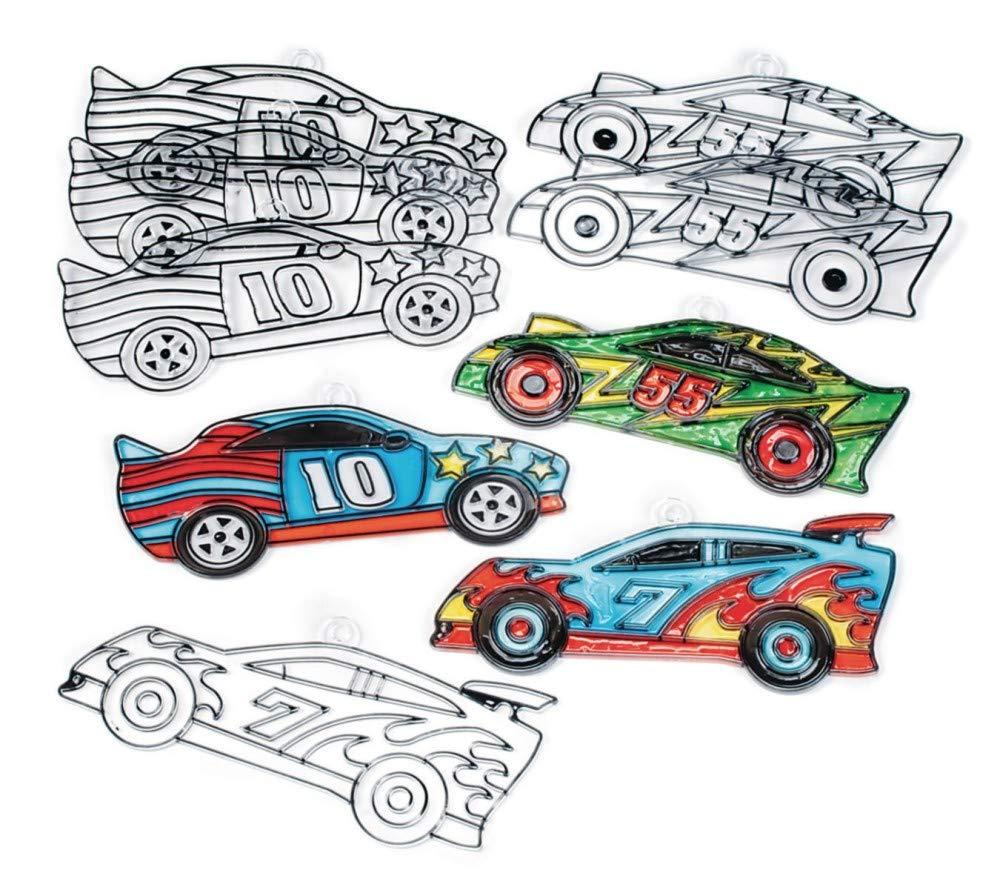 Race Car Sun Catchers Pack of Super supreme sale period limited 12