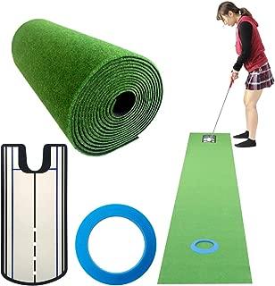 Danact ゴルフ練習パターマットセット/3m/4m/5m/シリコンパターカップ/パター練習器具 セット 単品