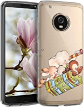 Clear Cartoon case for MOTO Plus Case for women Soft Silicone Ultra-Thin phone case Slim Fit Transparent Flexible Silica gel Cover Anti-Scratch protective shell Bumper case  3