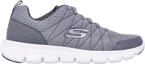 Skechers Pour des hommes Marauder Marauder MERSHON gris Memory Foam Trainers chaussures 52836 GRY-UK 6 (EU 39.5)  designer en ligne
