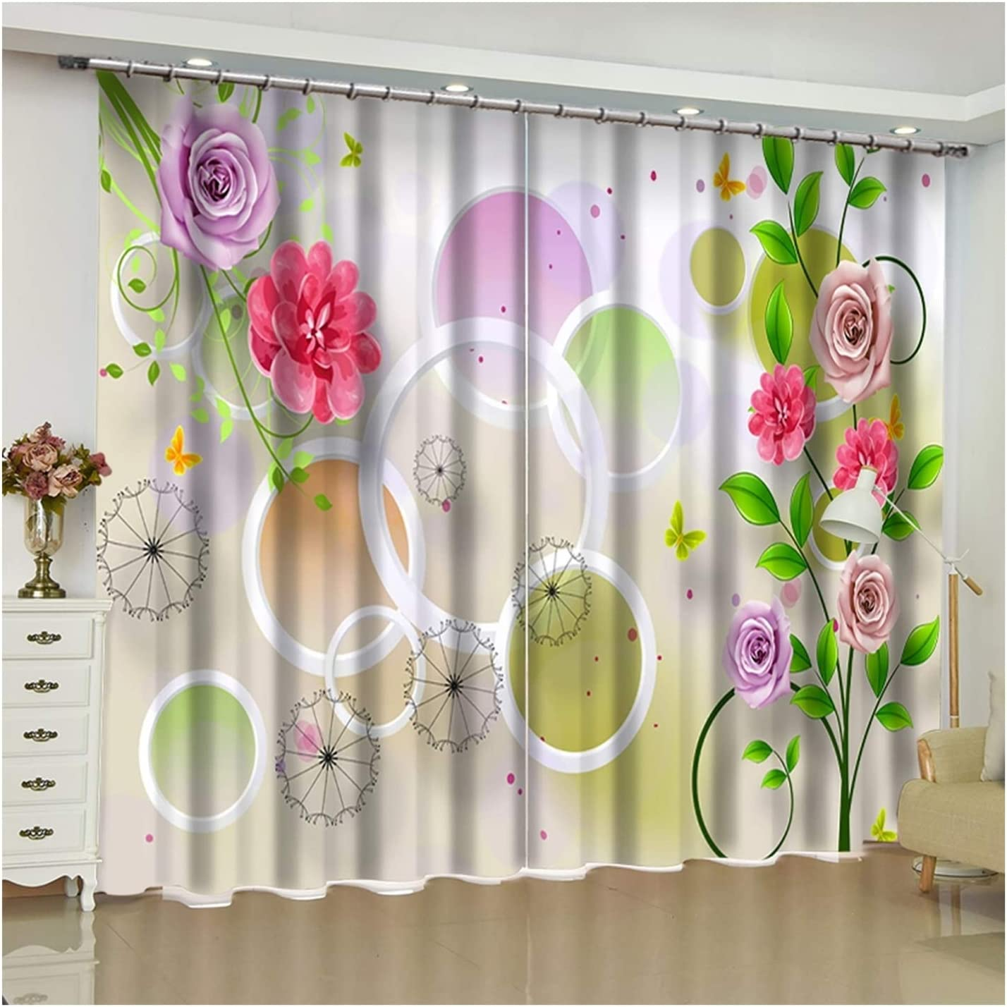 Daesar Blackout Curtains Living Opening large Max 45% OFF release sale Room 2 Panel