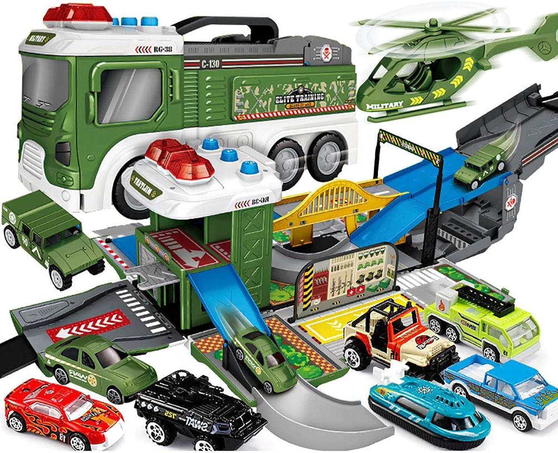 WDXIN Toy Garage Parkhaus Feuerwehrauto Kinderspielzeug Parkplatz anheben Bagger Technik Legierungssatz 2-3-6 Jahre 4 Jungen. B07LCMHPQF Luxus   | Bevorzugtes Material