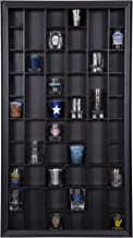 Gallery Solutions 17x32 Display Hinged Front, Black Shot Glass Case OD 17.8875X32.4375