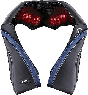 【父の日】 Naipo 首マッサージャー ネック・ショルダーマッサージ 器 ヒーター付き 首・肩・腰・背中・太もも 肩こり ストレス解消 家庭用&職場用&車用 温熱療法 (ブラック)