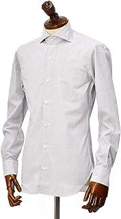 BARBA【バルバ】ドレスシャツ BRUNO I1U262U07557 フラシ コットン マイクロチェック ブラック×ホワイト