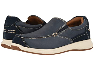 Florsheim Kids Great Lakes Moc Slip, Jr. (Toddler/Little Kid/Big Kid) (Indigo Smooth/Suede) Boy