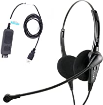 Economic Call Center USB Binaural PC headset with Plug N Play USB Headset for MS Lync, Skype, Cisco Jabber, Avaya One-x Agent